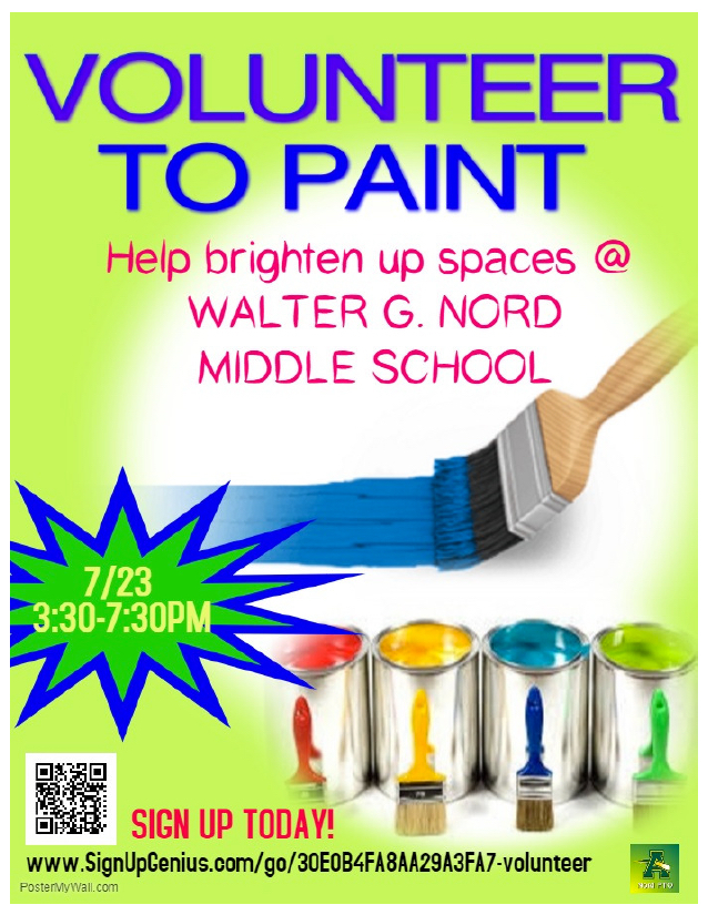 Nord PTO Volunteer to Paint