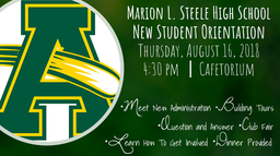 Steele New Student and Freshman Orientation