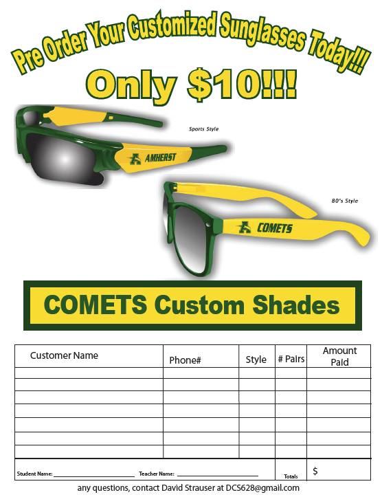 Band Fundraiser - Amherst Sunglasses