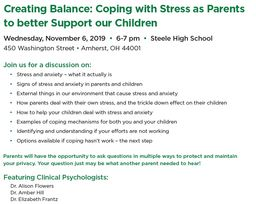 Parent Information Night: Coping with Stress