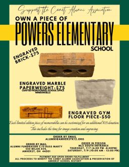 Powers School Brick Pickup Dates